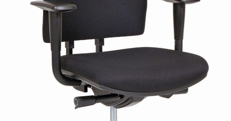 24Designs Bristol Economy Bureaustoel EN1335 – Stof Zwart – Zwart Onderstel | 8719323474734