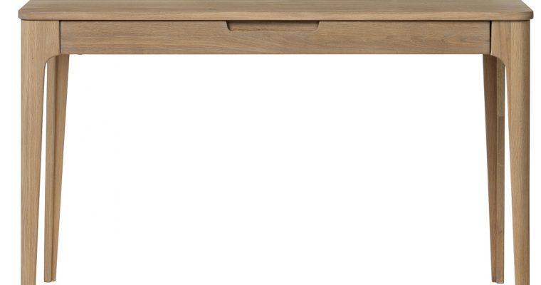 24Designs Grindsted Bureau – 120x60x78 – Wit – Eiken White Wash | 8719874349659