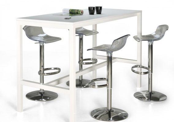 24Designs Hoge Bartafel Werktafel En Statafel Block – L160 X B80 X H110 Cm – Wit   8719874348423