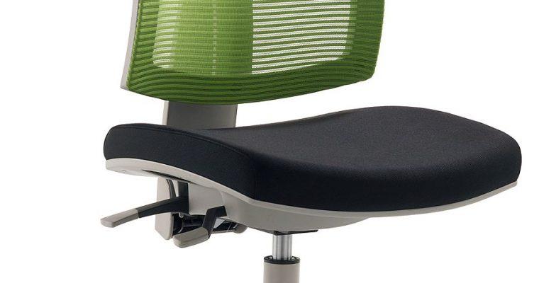 24Designs Kinderbureaustoel Flexis – Stof Groen/Zwart – Grijze Kruispoot | 8719172340495