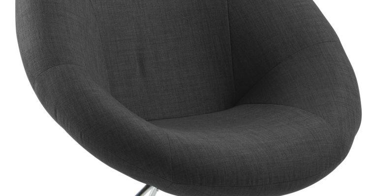 24Designs Lounge Fauteuil Cirque – Donkergrijs | 8719172348590
