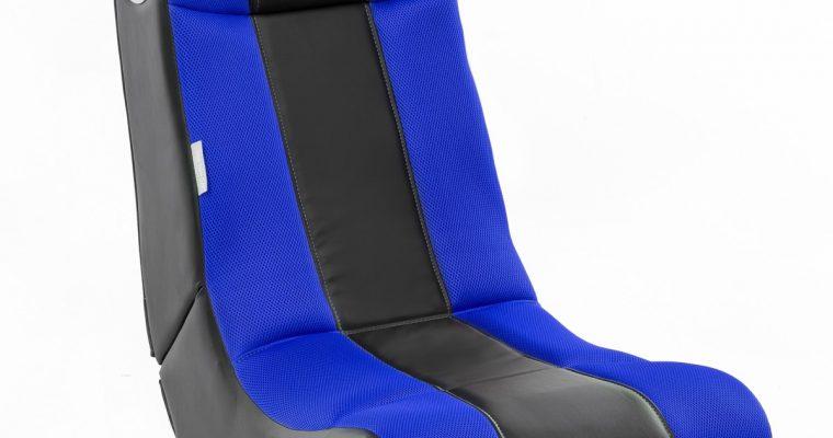 24Designs Max – Racestoel Gamestoel – Bluetooth&Speakers – Zwart / Blauw | 8719323478565