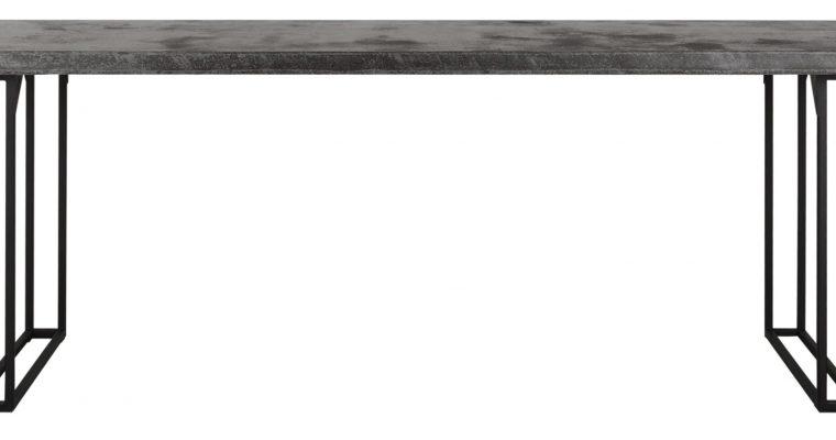 24Designs Mont Blanc Eettafel – 210x90x78 – Donkergrijs Bazalt – Metalen Poten   8720146540179