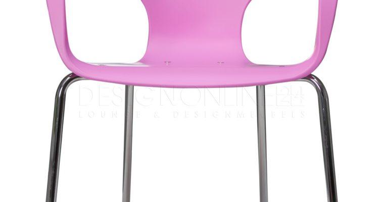 24Designs Stapelbare Stoel Jim – Armleuningen – Roze | 8718692423862