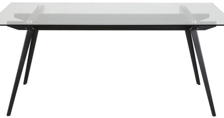 24Designs Tafel Dallas – L180 X B90 X H75 – Glas – Zwart Metalen Onderstel | 8719323472860