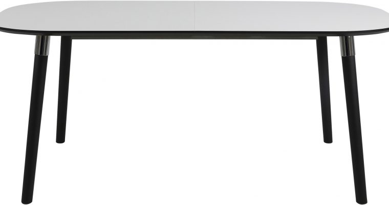 24Designs Tafel Penny – 180x100x74 Cm – Wit HPL Tafelblad – Zwarte Houten Poten   8719323472112