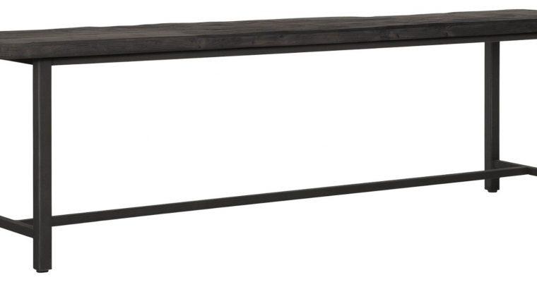 24Designs Timeless Black Eetkamerbank Beam? L35 X B165 X H47 Cm? Teakhout | 8720146585590