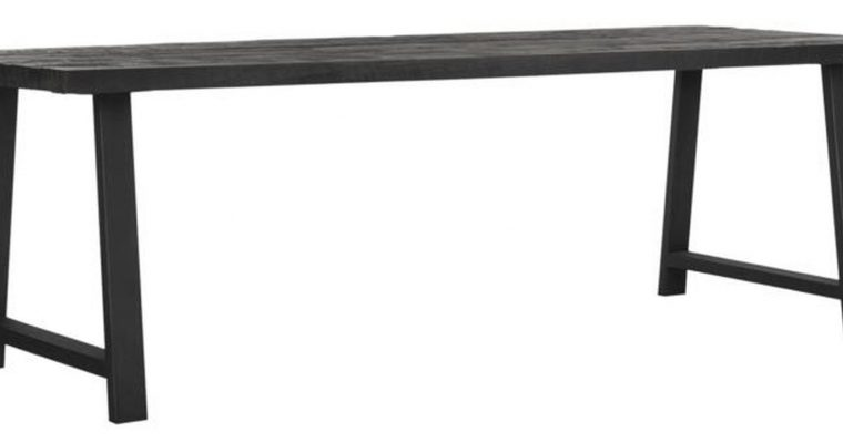 24Designs Timeless Eettafel A-Team – L275 X B90 X H78 Cm – Teakhout Zwart | 8720146585477