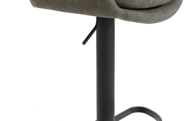 24Designs Verstelbare Barkruk Levi – Modderbruin Vintage Kunstleer – Zwart Onderstel | 8720143246951