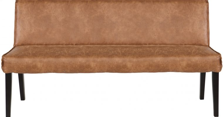 BePureHome Rodeo Eetbank – Breedte 156 Cm – Leer – Cognac | 8714713054879