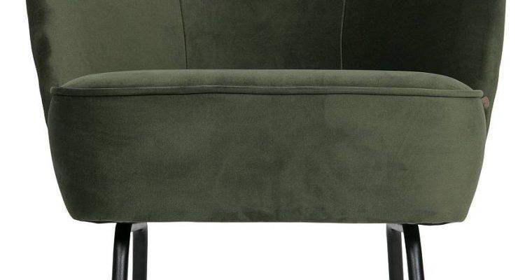 BePureHome Vogue Fauteuil – Fluweel Onyx | 8714713077960
