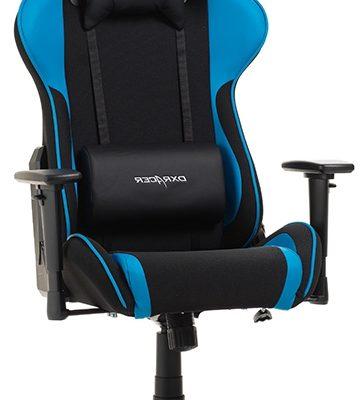 DXRacer Formula-series Game&Bureaustoel – Zwarte Stof – Blauw PU | 8719172343762