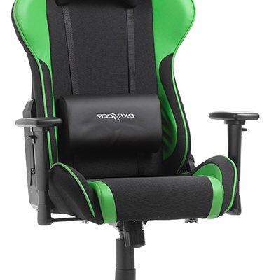 DXRacer Formula-series Game&Bureaustoel – Zwarte Stof – Groen PU | 8719172343755