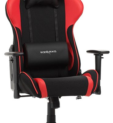 DXRacer Formula-series Game&Bureaustoel – Zwarte Stof – Rood PU | 8719874349802