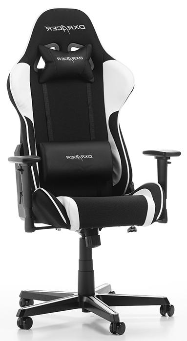 DXRacer Formula-series Game&Bureaustoel – Zwarte Stof – Wit PU   8719172343748