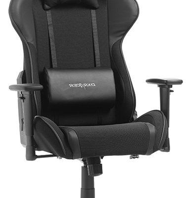 DXRacer Formula-series Game&Bureaustoel – Zwarte Stof – Zwart PU | 8719874349796