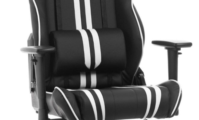 DXRacer Racing Stripes-series Game&Bureaustoel – Zwart/Witte Strepen PU | 7340136115296