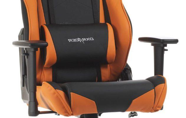 DXRacer Racing-series Game&Bureaustoel – Zwart/Oranje PU | 8719172346138
