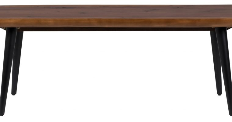 Dutchbone Alagon Eetbank – L120xB40xH45 Cm – Walnoot – Zwart Metalen Poten | 8718548036024