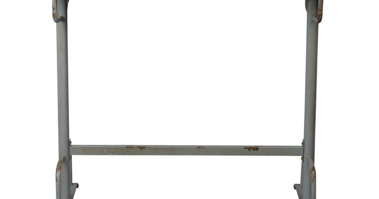 Dutchbone Declan Bartafel – L140xB50xD104 Cm – Grijs Metaal | 8718548044906