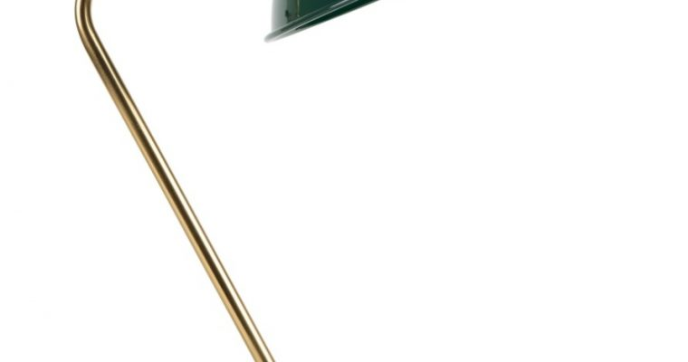 Dutchbone Devi Tafellamp – B28xD36xH52 Cm – Groen Met Messing   8718548032026