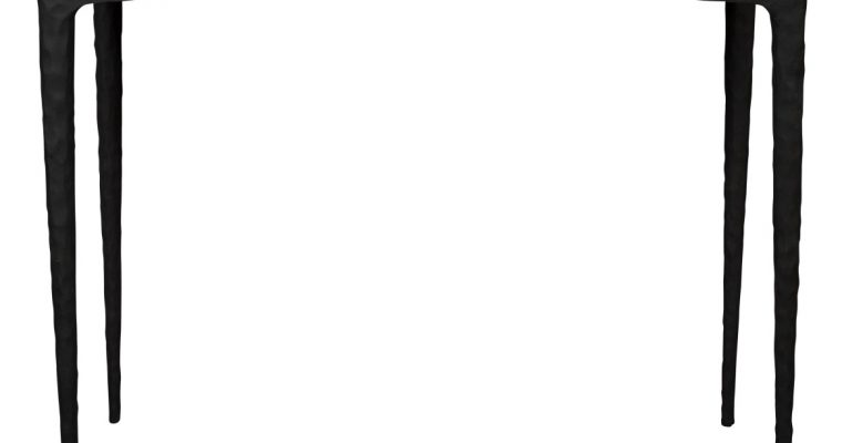 Dutchbone Rocco Sidetable – B100xD40xH74,5 Cm – Tafelblad Marmer En Poten Van Aluminium | 8718548044937