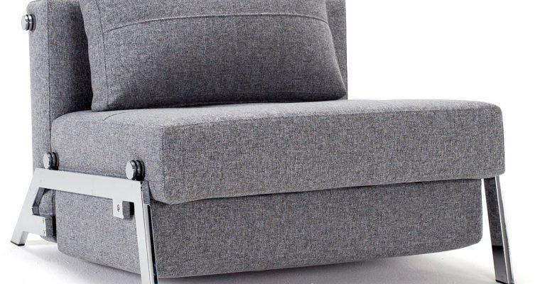 Innovation Slaapbank Cubed 90 – Twist 565 Grijs – Chromen Poten | 8720143240799
