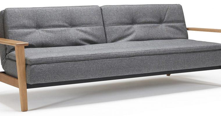 Innovation Slaapbank Dublexo Frej – Twist Charcoal 563 – Grijs | 8720143240768