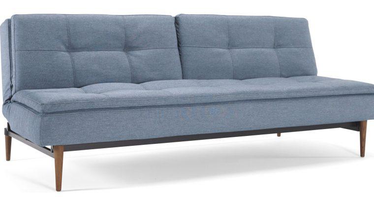 Innovation Slaapbank Dublexo – Styletto Poten Donker – Soft Indigo 558 – Blauw   8720143240522