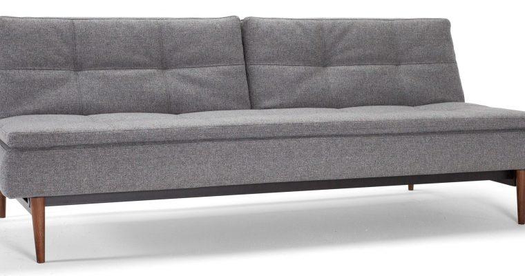 Innovation Slaapbank Dublexo – Styletto Poten Donker – Twist Charcoal 563 – Grijs | 8720143240515