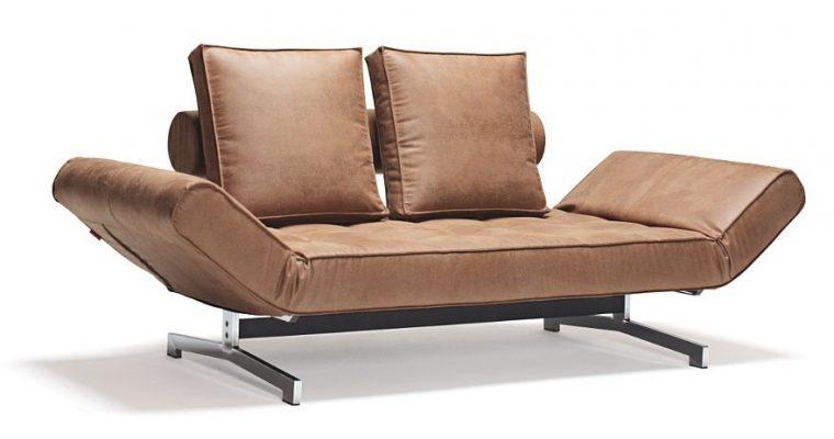 Innovation Slaapbank Ghia Chroom – Faunal 551 – Bruin | 8720143240874