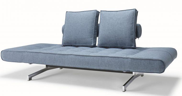 Innovation Slaapbank Ghia Chroom – Mixed Dance 525 – Lichtblauw | 8720143240676