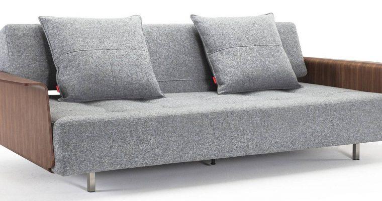 Innovation Slaapbank Long Horn Excess – Armleuningen – Twist Granite 565 Grijs | 8720143240287