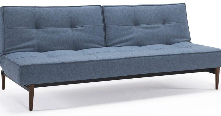 Innovation Slaapbank Splitback – Styletto Poten Donker – Mixed Dance Light Blue 525   8720143240331