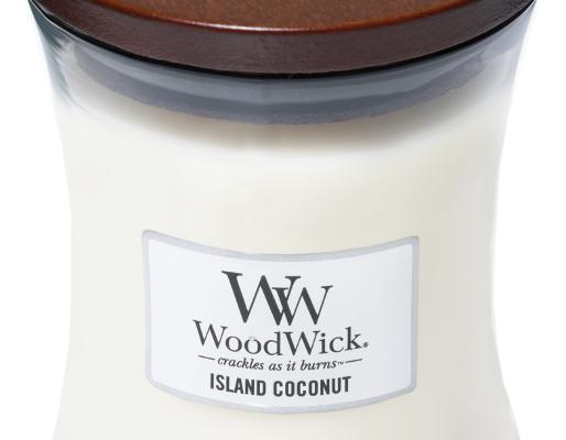 Woodwick Island Coconut Medium kaars | 92115E | Woodwick