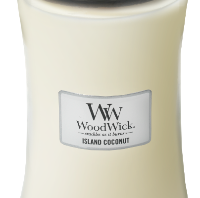 Woodwick Island Coconut kaars groot | 93115E | Woodwick