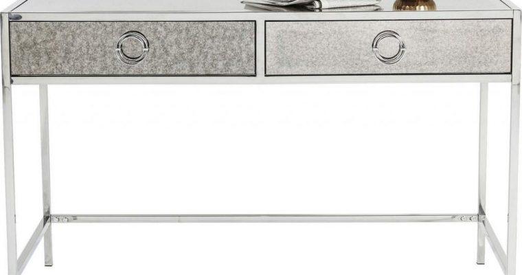 Kare Design – Bureau Moonscape 2-Laden – Zilverkleurig – Spiegelglas En RVS | 4025621815716