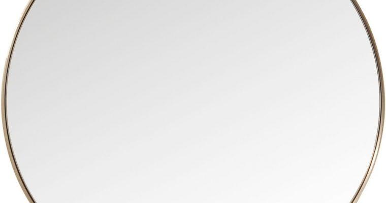Kare Design Curve Spiegel Rond -Ø100cm – Koper | 4025621827160