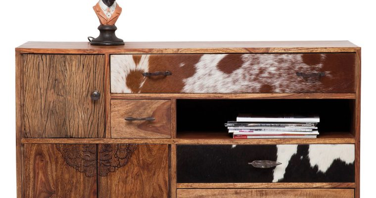 Kare Design Dressoir Rodeo – 3 Deurs – 4 Laden – L115 X B40 X H80 Cm – Hout | 4025621783350