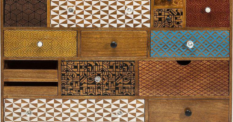Kare Design Dressoir Soleil – 14 Laden – L115 X B36 X H80 Cm – Mangohout | 4025621801894