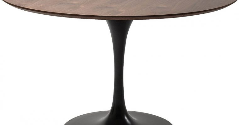 Kare Design Invitation Ronde EettafelØ120×76 – Tafelblad Walnoot – Zwart Onderstel | 4025621844037