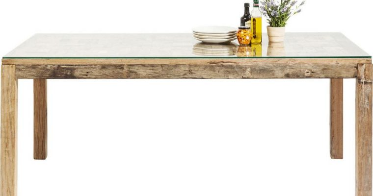 Kare Design Memory Eettafel – 160x80x76 – Gerecycled Hout   4025621761631