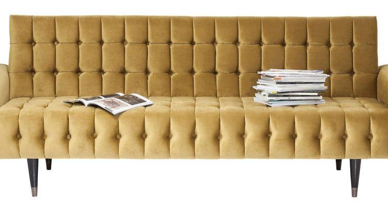 Kare Design Milchbar Honey 3-Zits Bank – B233 Cm – Honing Geel Fluweel   4025621811916