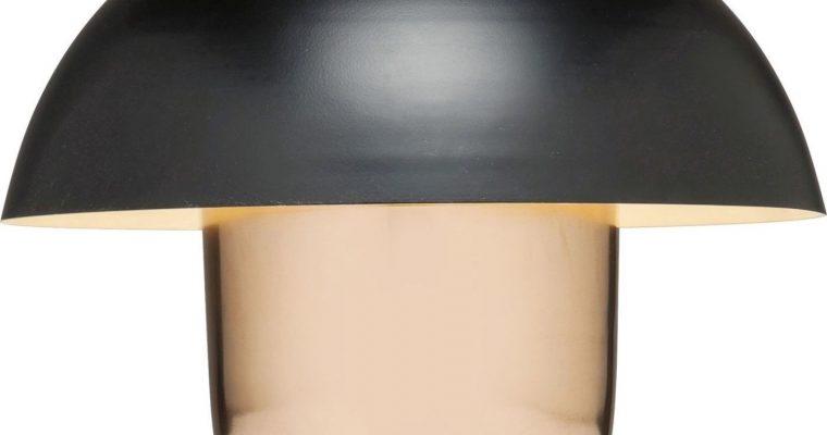 Kare Design Mushroom Tafellamp 1-LichtsØ50 X H44 – Koper En Zwart   4025621601999