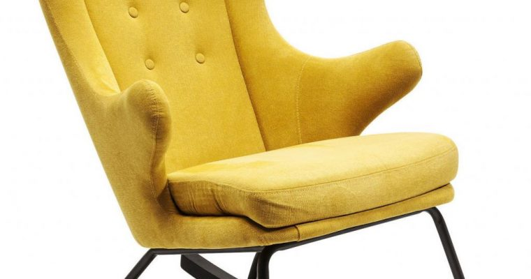 Kare Design – Schommelstoel Fjord – Mosterd Gele Stof | 4025621827320