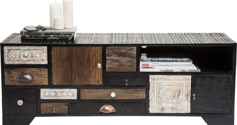 Kare Design TV Meubel Finca 3-deurs – 9 Laden – L125 X B40 X H45 Cm – Mangohout | 4025621794820