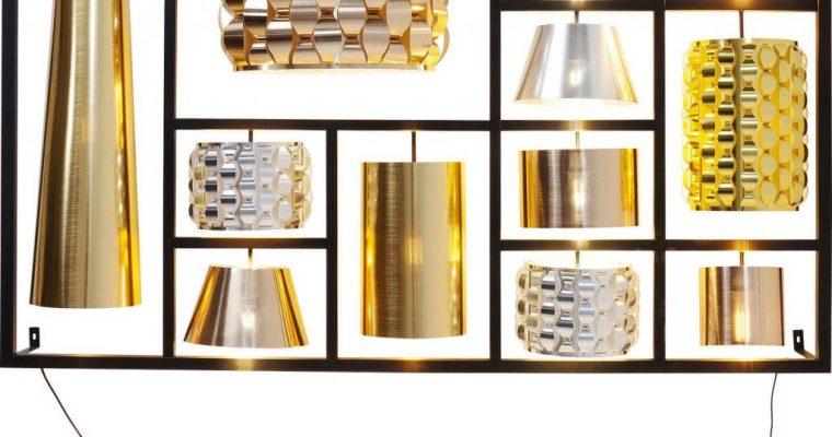 Kare Design – Wandlamp Parecchi Glamour XL – Zwart Frame | 4025621614579