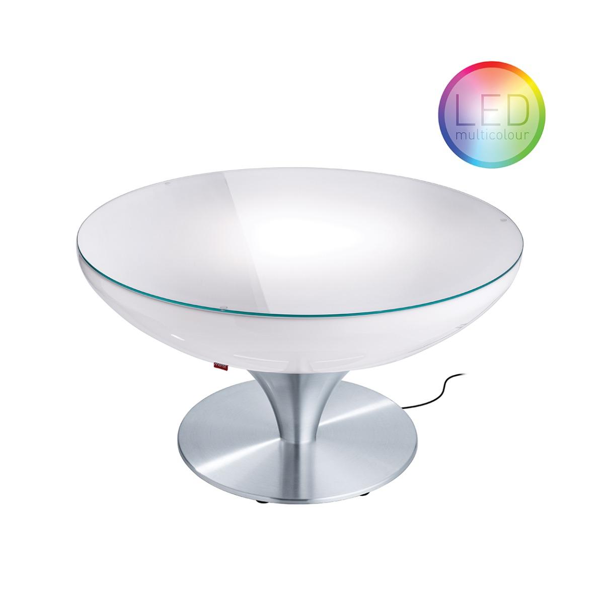 Moree – Ronde Salontafel Lounge – Hoogte 45 Cm LED Pro Outdoor – Wit | 4260218360648