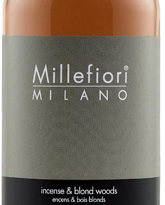 Millefiori Milano Navulling voor geurstokjes 500ml Incense & Blond Woods | 7REIW | Millefiori Milano