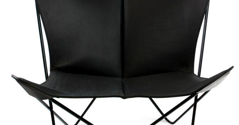 OxDenmarq Papillon Fauteuil – Zwart Onderstel – Leer Zwart |